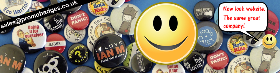 """Promotional and personalised button badges"""